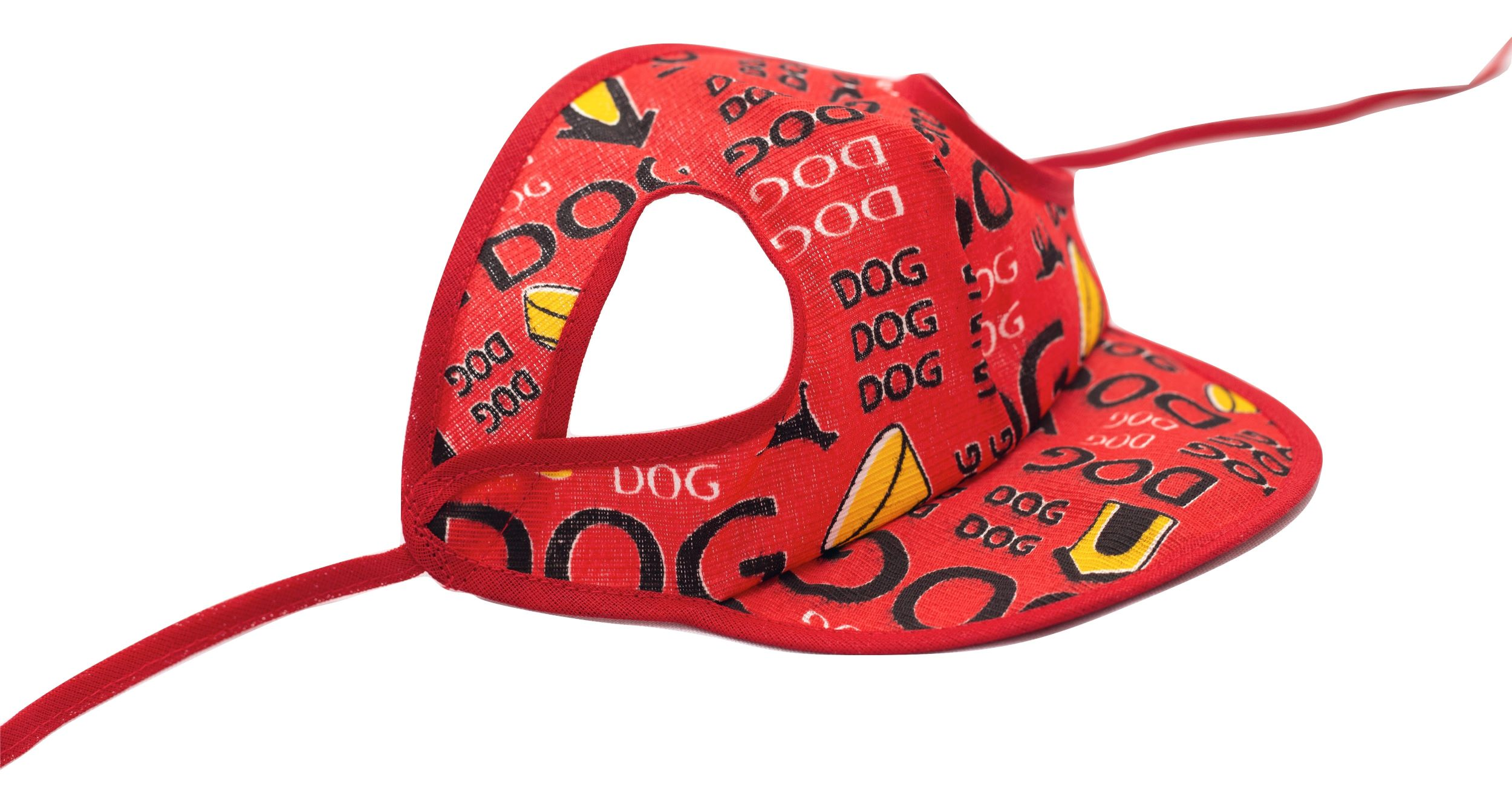 Boné Para Cachorro Com Viseira Vermelho Estampado Tamanho M