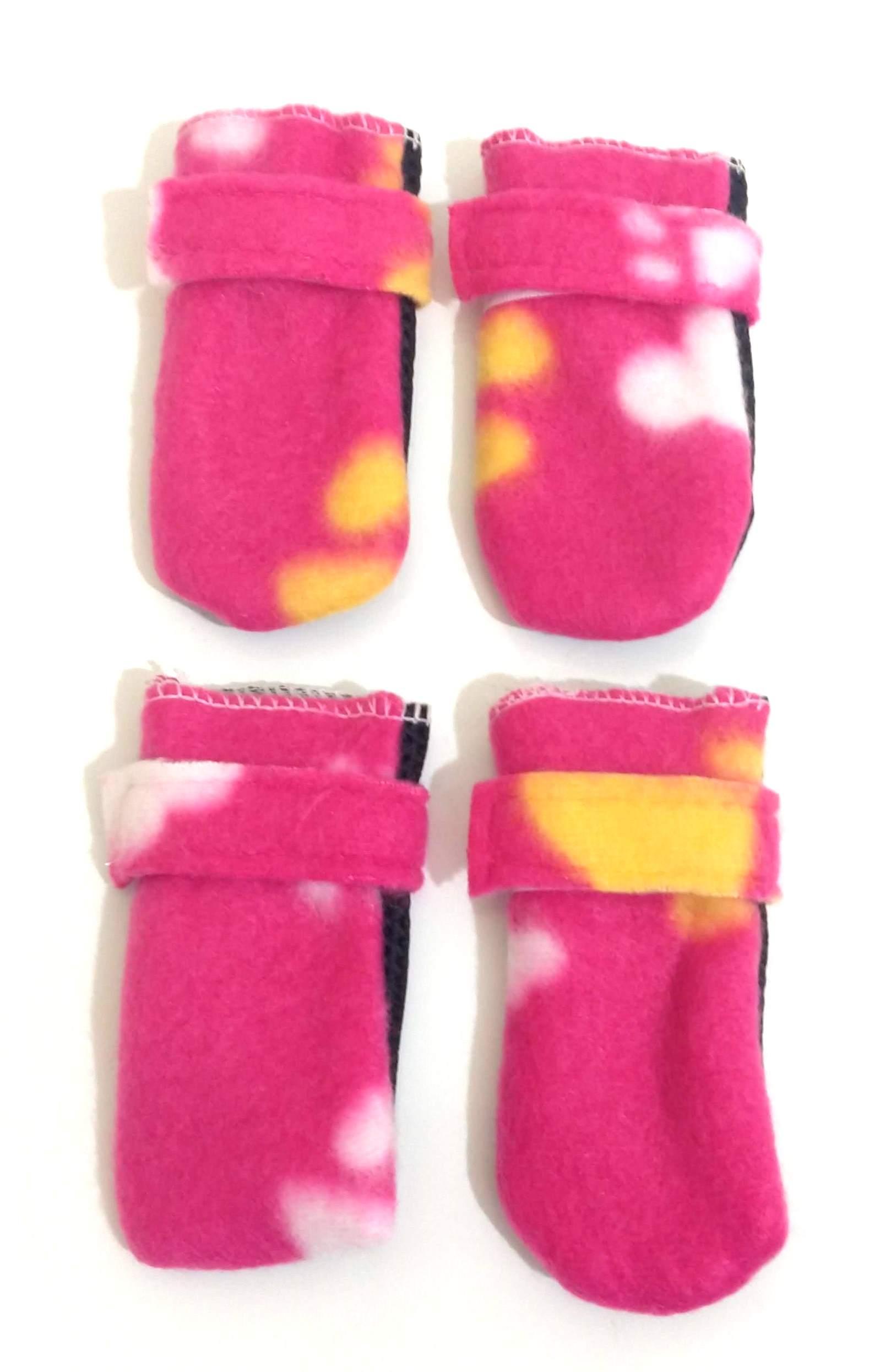 Sapato Antiderrapante Soft Para Cães E Gatos  Cor Rosa  P