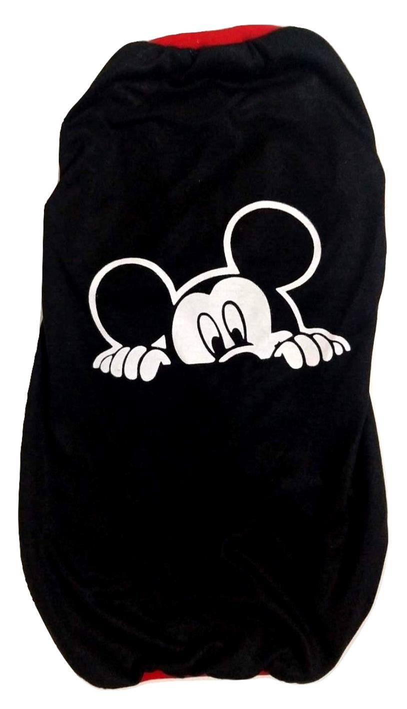 Camiseta Para Cachorro Mickey Mouse Preta - Tamanho M