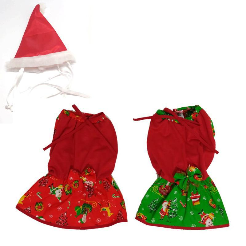 Kit Vestido De Natal + Gorro - Tamanho G