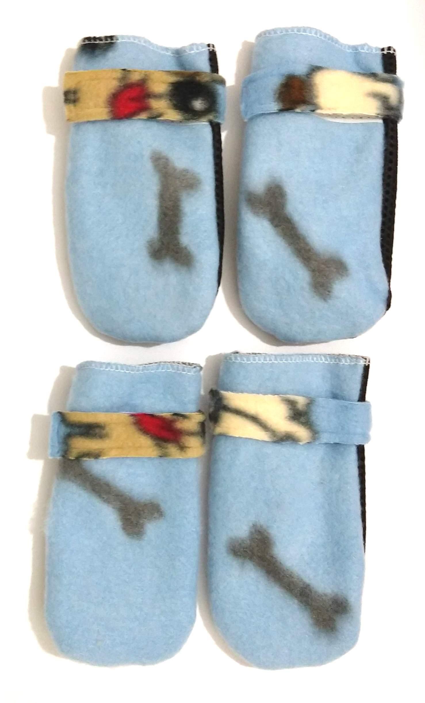 Sapato Antiderrapante Soft Para Cães E Gatos Azul Claro G