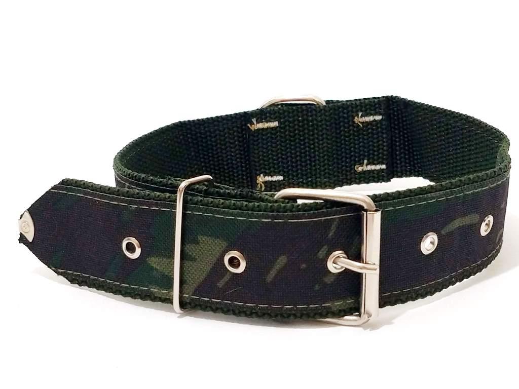 Coleira Para Cachorro Nylon Camuflada Nº. 7 (50 Cm A 62 Cm)