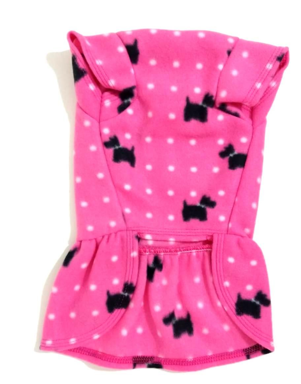 Vestido De Inverno Soft Rosa  Estampa Dog Tamanho Gg