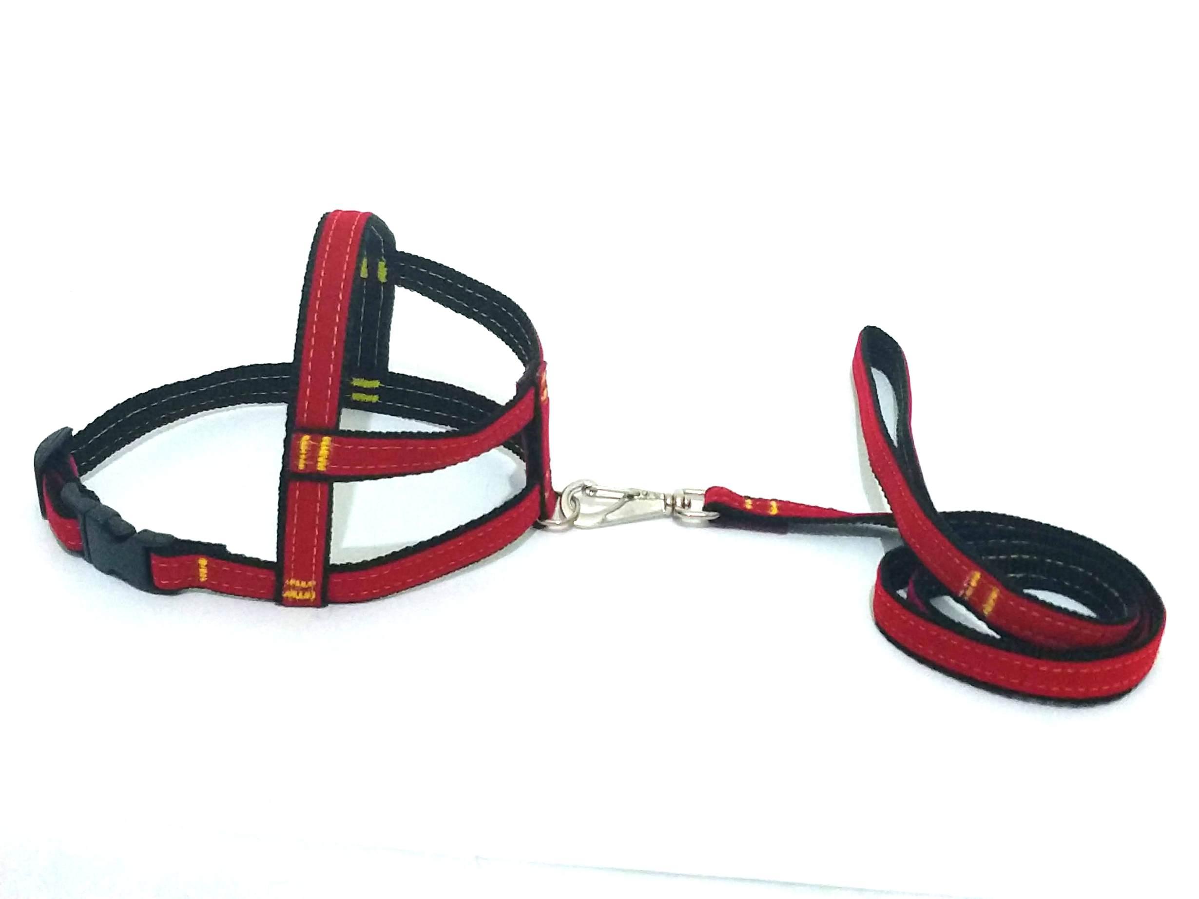 Conjunto Peitoral de Veludo liso vermelho tamanho 03