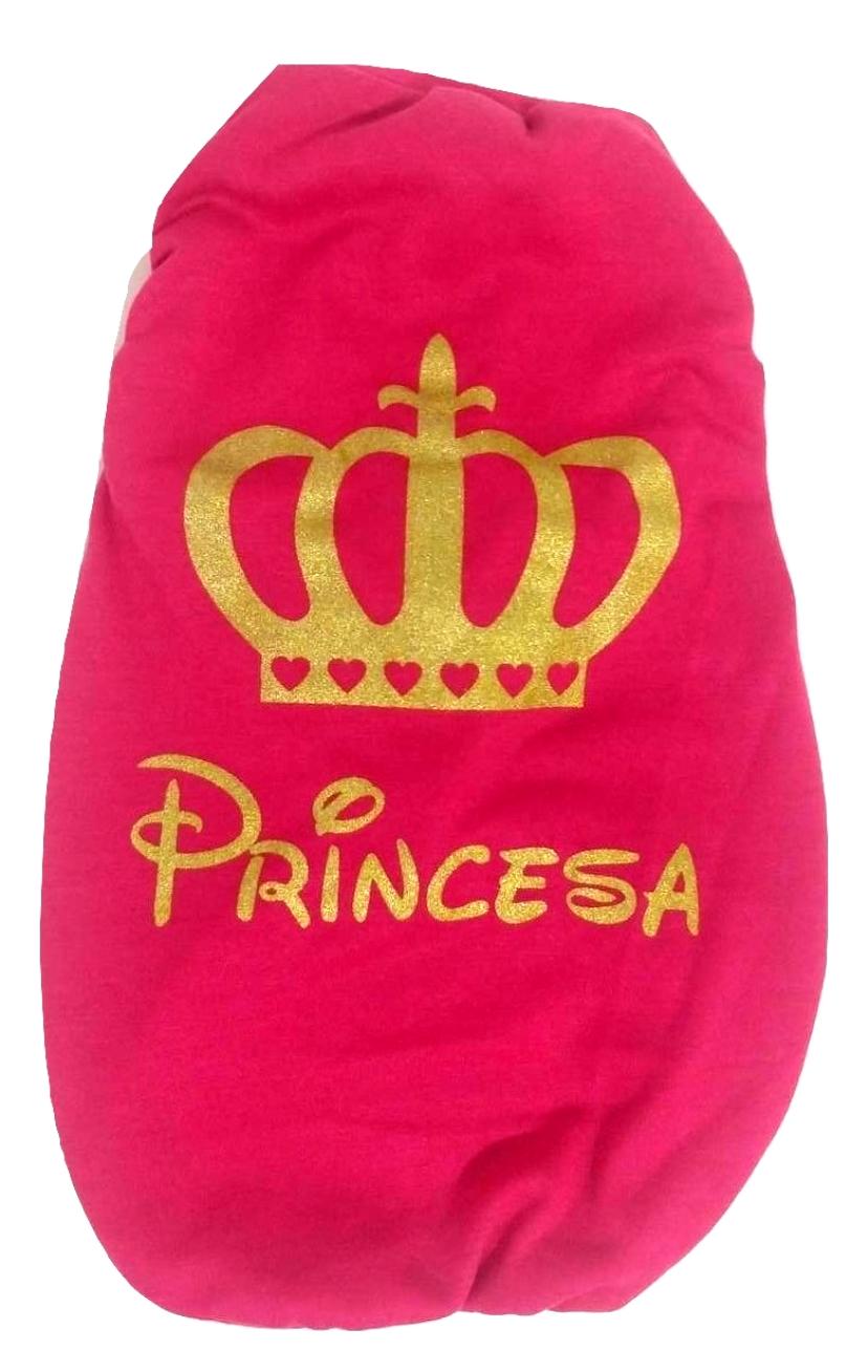 Camiseta Para Cães Estampa Das Princesas Cor Rosa Tamanho Gg