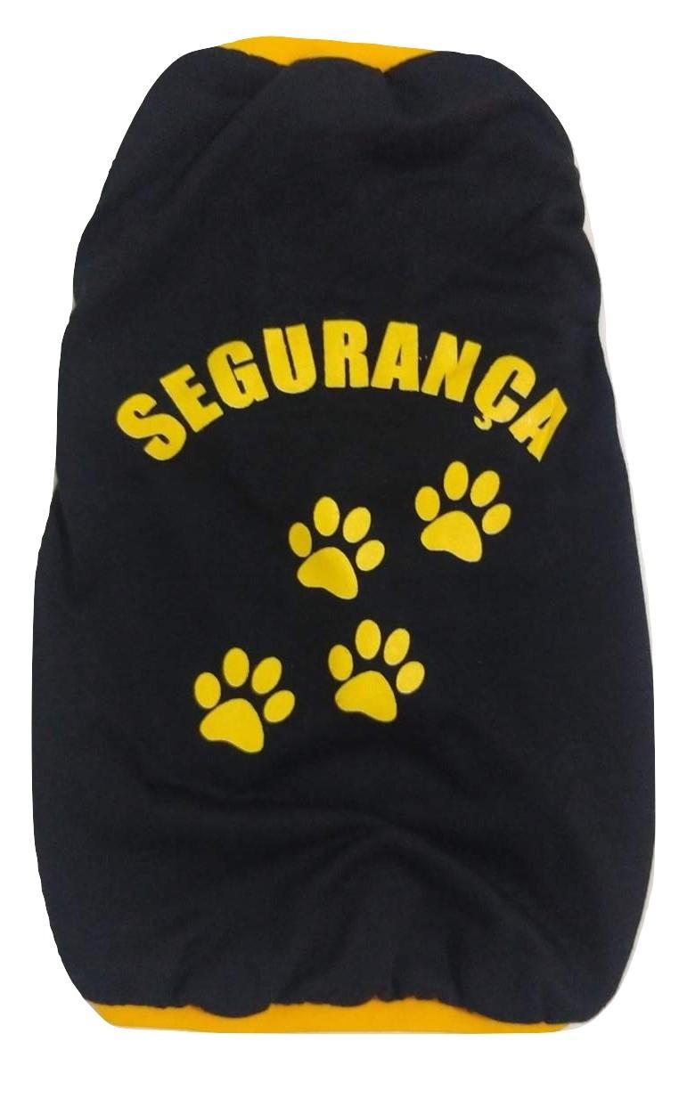 Camiseta Segurança Para Cães Cor Preto Tamanho G