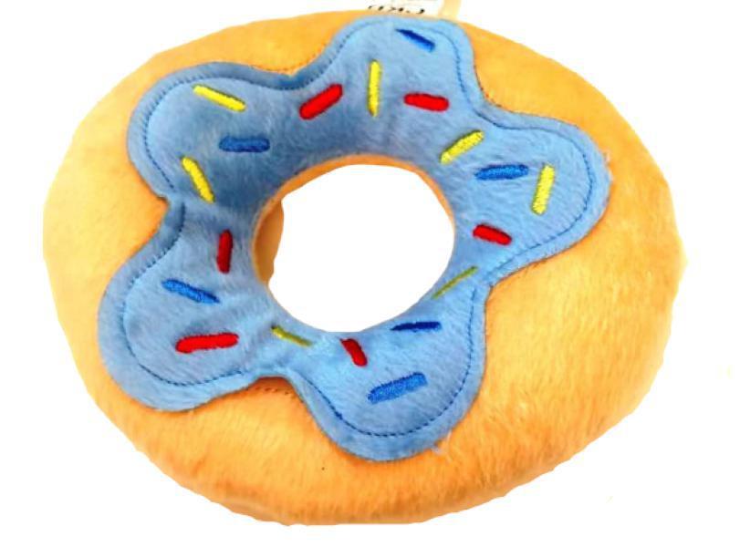 Brinquedo De Pelúcia Para Cães E Gatos  - Rosquinha Azul