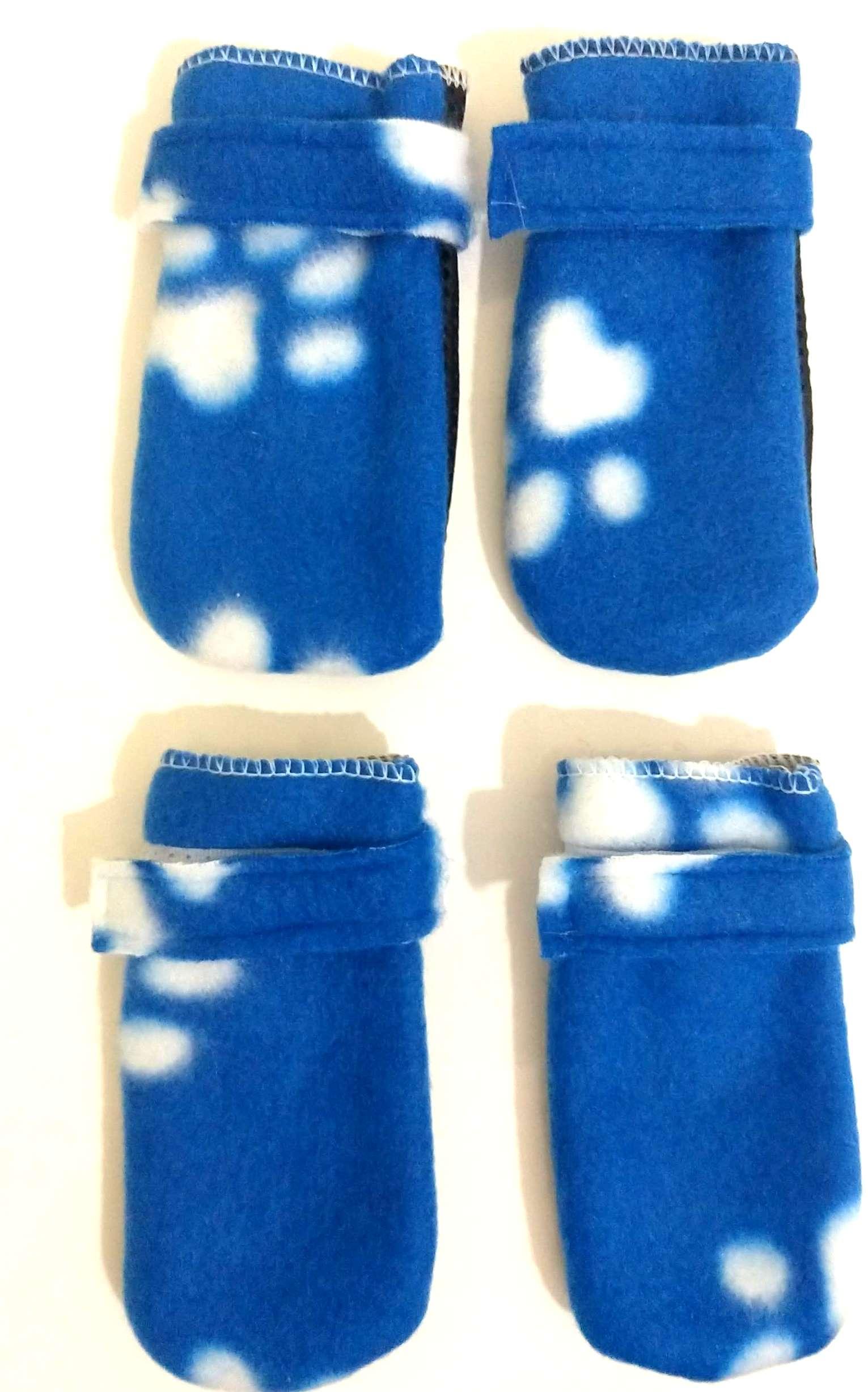 Sapato antiderrapante soft para cães e gatos  cor azul M