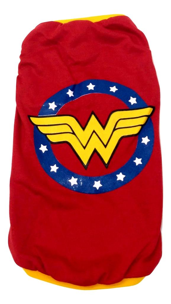 Camiseta Super Heróis Mulher Maravilha vermelha  Tamanho EG