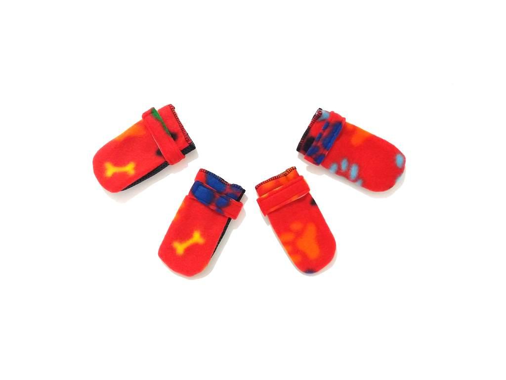 Sapato Antiderrapante Soft Para Cães E Gatos Cor Vermelha  G