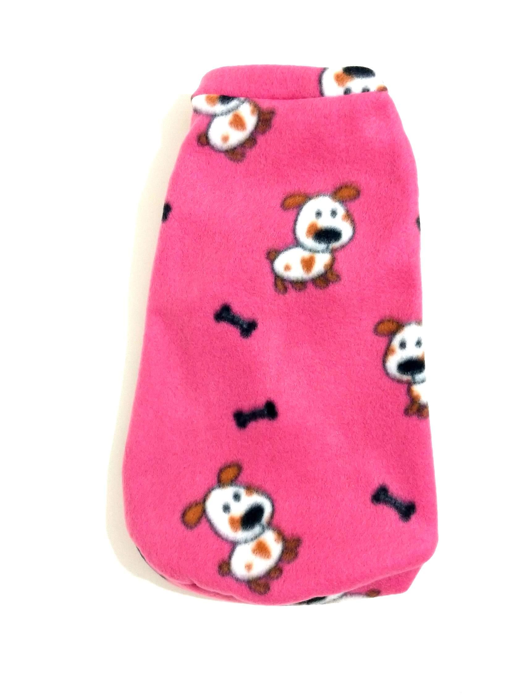 Roupa Capa Soft Para Cachorro Rosa Com Dog Tamanho G