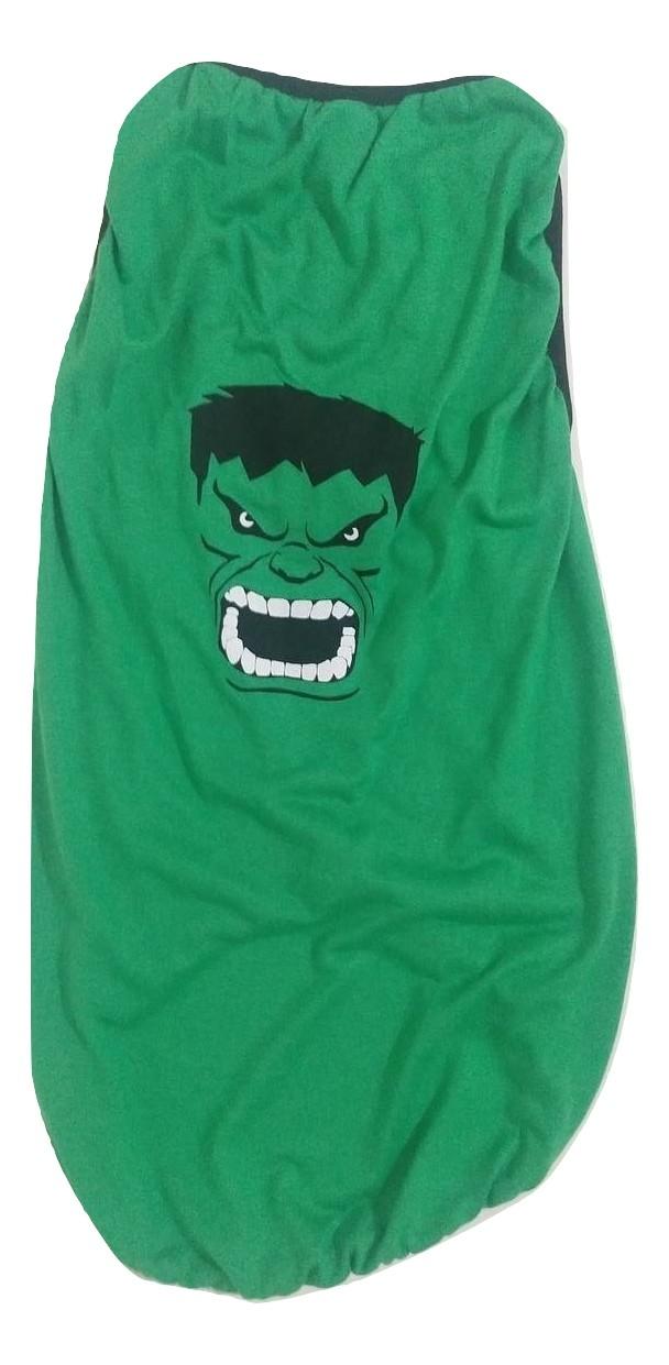 Camiseta Para Cães Super Heróis  Hulk Verde  Tamanho Eg